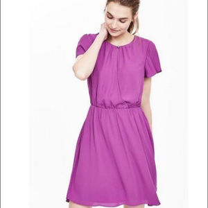 Banana Republic Purple Flutter Sleeve Dress Small